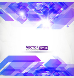 Abstract geometric background with explosion vector image