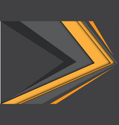 abstract yellow gray arrow speed modern vector image