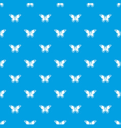 Admiral butterfly pattern seamless blue vector