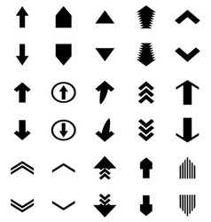 Arrow black up and down upload download vector image vector image