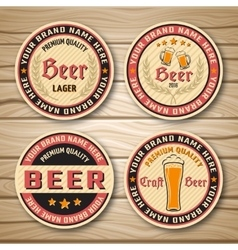 Beer Label Or Emblem Set vector image vector image