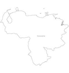 Black White Venezuela Outline Map vector image vector image