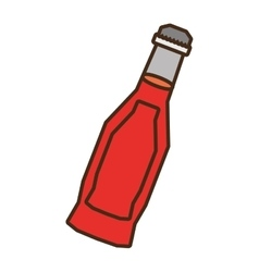 bottle soda red liquid glass vector image