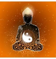 Buddha art vector image