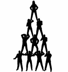 Business people pyramid vector