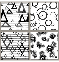 Collection of Creative Hand Drawn seamless vector image