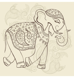 Elephant indian style vector