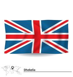 Flag of dhekelia vector