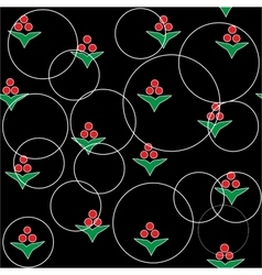 Flower abstract seamless pattern vector