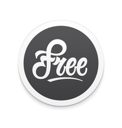 Free label or button vector