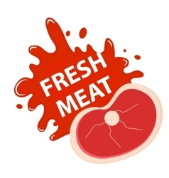 Fresh meat with a splash icon flat style vector image vector image