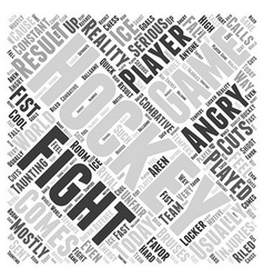 How the game of hockey is played word cloud vector