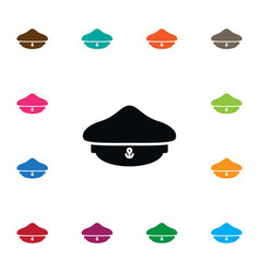 isolated headgear icon sailor element can vector image