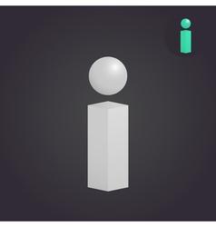 Isometric i letter sign vector