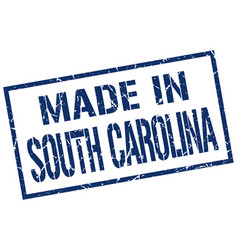 Made in south carolina stamp vector
