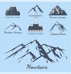 Mountain silhouette nature outdoor rocky vector
