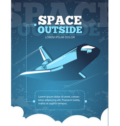 outer space universe adventure galaxy travel vector image
