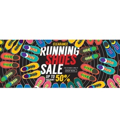 Running Shoes Sale 6250x2500 pixel Banner vector image vector image