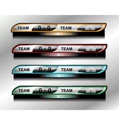 Scoreboard object design vector
