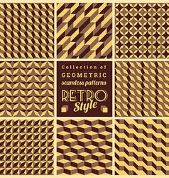 Set of seamless geometrical patternsVintage vector image vector image