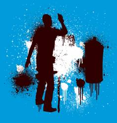 spray guy stenciled vector image vector image