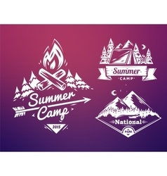 Summer camp and national park typography design vector