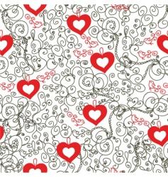 vintage hearts vector image vector image