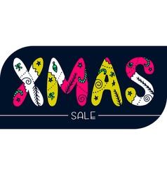 Xmas sale banner vector