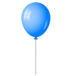 blue baloon vector image