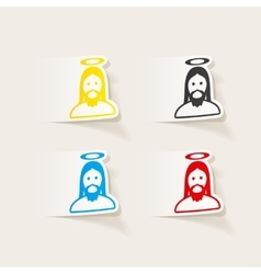 Realistic design element jesus vector
