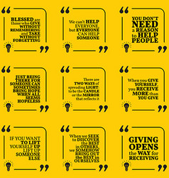 Set of motivational quotes about hope help support vector