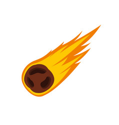 flame meteorite icon flat style vector image