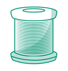 Sewing thread roll icon vector