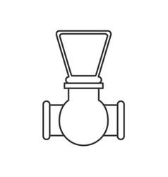 monochrome silhouette of stopcock icon vector image