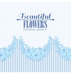 Blue flower seamless pattern vector