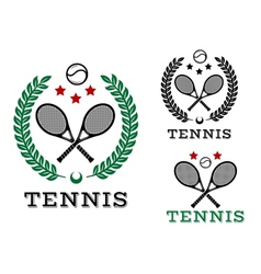 Tennis sporting emblems and symbols vector image