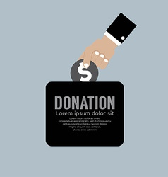 Donate money to charity concept vector