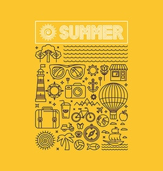 Summer and vacation poster vector