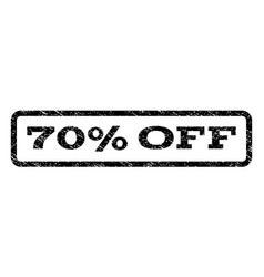 70 percent off watermark stamp vector