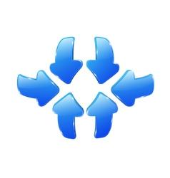 3d blue arrows vector