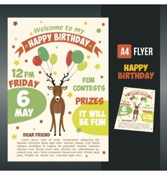 Postcard birthday vector