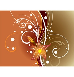 Abstract brown floral background vector