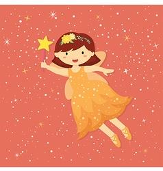 Cute Little Orange Fairy vector image