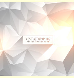 Abstract clean gray white backgorund in low poly vector
