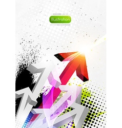 Abstract grunge splash design vector