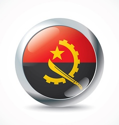 Angola flag button vector image vector image