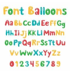 Balloons font Alphabet vector image