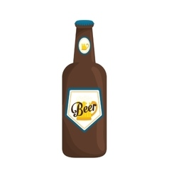 bottle of beer icon design vector image