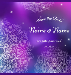 Card template for wedding invitations for vector