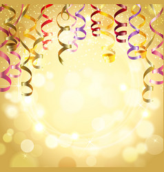 Celebration Background With Streamers vector image